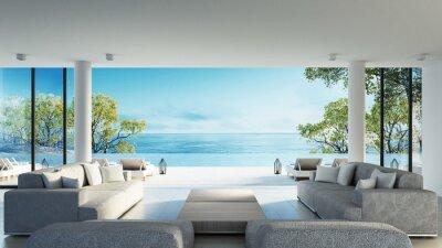 Fototapeta Plaża żyjących na Widok na morze / renderowania 3D