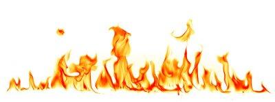 Fototapeta Płomienie ognia wyizolowanych na białym tle
