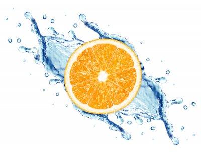 Fototapeta plusk wody i pomarańczowy