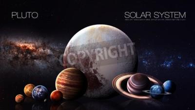 Fototapeta Pluton - rozdzielczości 5K Infografika przedstawia jeden z planety systemu słonecznego.
