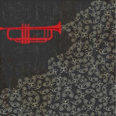 Fototapeta Płynąca muzyka z podkładu muzycznego do musicalu