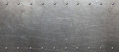 Fototapeta Płyta stalowa z nitami