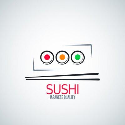 Fototapeta Płyta sushi roll tło menu