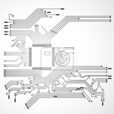 Fototapeta płytka i procesor