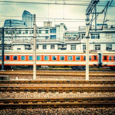 Fototapeta Pociąg na stacji