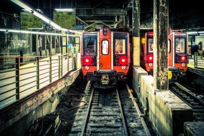 Fototapeta Pociąg w tunelu metra w Grand Central Terminal w Nowym Jorku