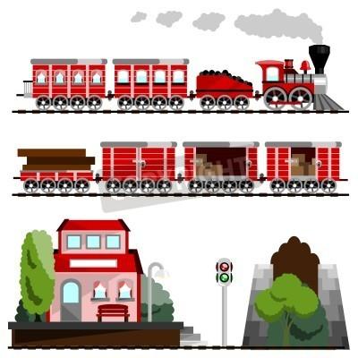 Fototapeta pociąg wielki zestaw
