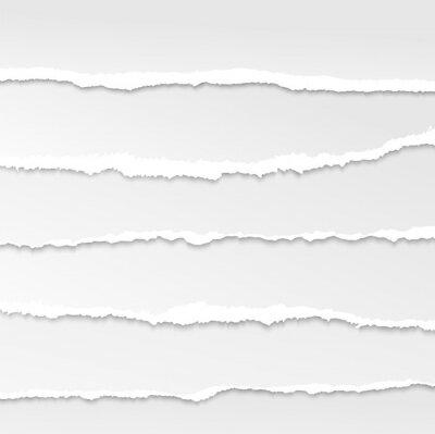 Fototapeta podarty papier krawędzie wektor