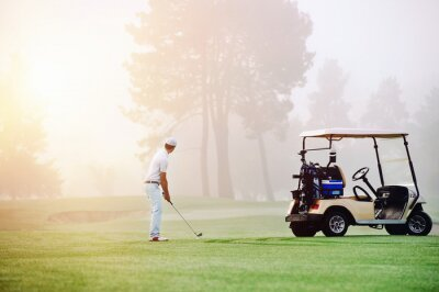 Fototapeta Podejście golf strzał