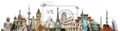Fototapeta Podróż koncepcję World Monuments