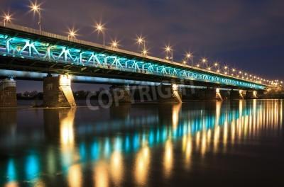 Fototapeta Podświetlony most w nocy