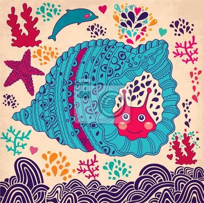 Podwodny świat. Wektor cartoon ilustracji