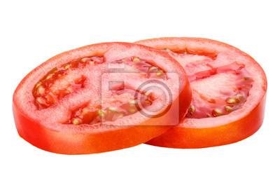 Fototapeta pokrojony pomidor wyizolowanych