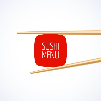 Fototapeta Pokrywa Sushi menu szablonu