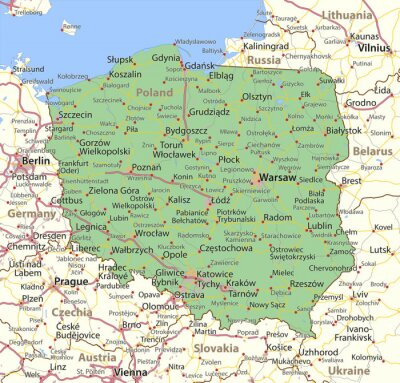 Fototapeta Poland-World-Countries-VectorMap-A