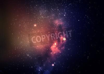 Fototapeta Pole gwiazda w przestrzeni kosmicznej wiele lat świetlnych daleko od Ziemi.