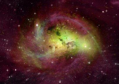 Fototapeta Pole Star w przestrzeni kosmicznej i mgławic