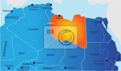Fototapeta Polityczna Mapa Libii Na Wymiar Tlo Projekt