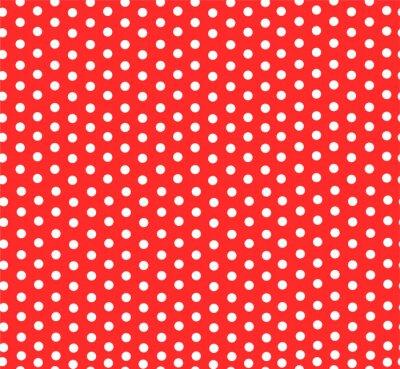 Fototapeta Polka dot czerwono-biały wzór wektor