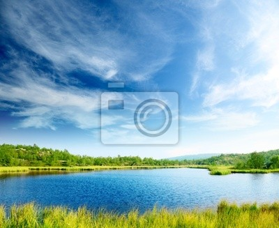 Fototapeta północ górskie jezioro