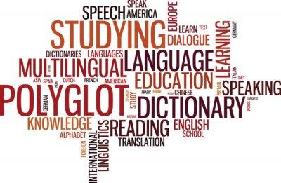 Fototapeta Polyglot wordcloud typograficzny