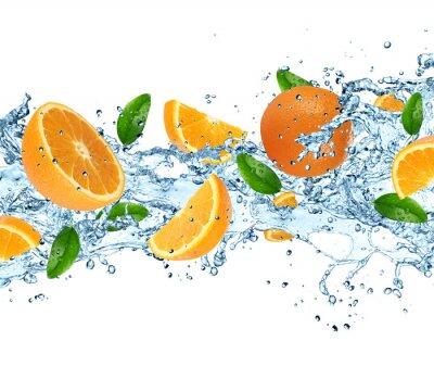 Fototapeta Pomarańcze z wody powitalny