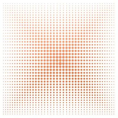 Fototapeta Pomarańczowa kropka z białym tłem