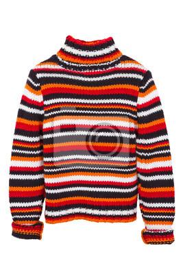 pomarańczowy drutach sweter, sweter, samodzielnie