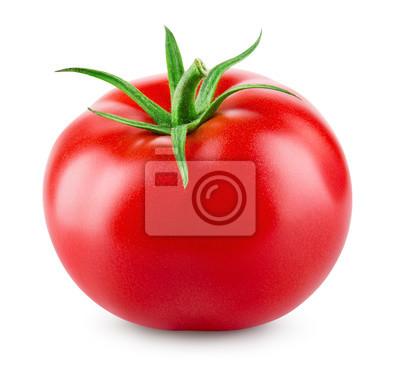 Fototapeta pomidor na białym tle.