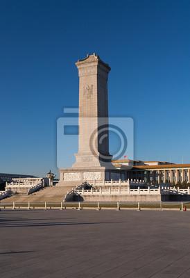 Pomnik Bohaterów Ludowej na placu Tiananmen. Pekin. Ch