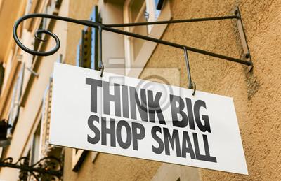 Fototapeta Pomyśl duży sklep mały znak w konceptualnych