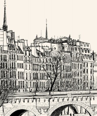 Fototapeta Pont Neuf w Paryżu