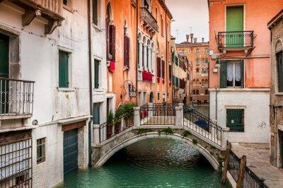 Fototapeta Pont sur le kanał à Venise