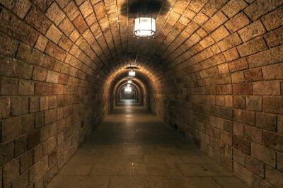 Fototapeta Ponury tunelu