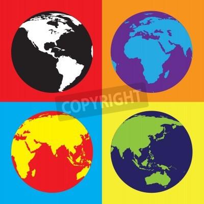 Fototapeta Pop Art Globus świata