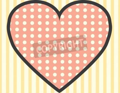 Fototapeta pop art miłość, ilustracja w formacie wektorowym
