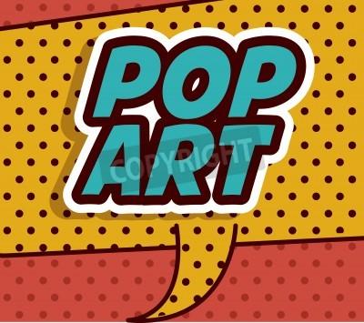Fototapeta Pop Art projektowania, ilustracji wektorowych