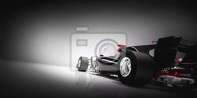 Fototapeta Popiera F1 samochód na lekkim tle.