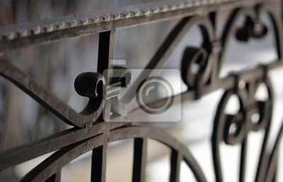 Fototapeta Poręcze i poręcz z kutego żelaza