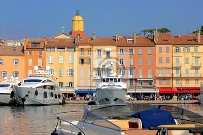 Port w Saint Tropez we Francji