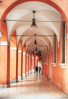 Fototapeta portico and arcades in Bologna, Italy