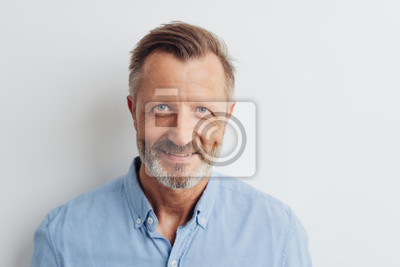 Fototapeta Portrait of a cheerful smiling bearded man