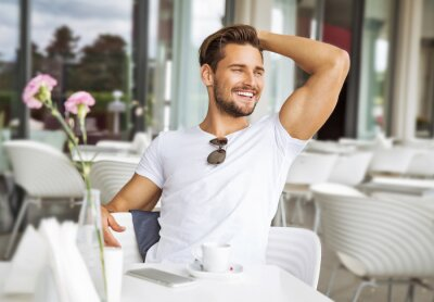 Fototapeta Portrait of handsome smiling man