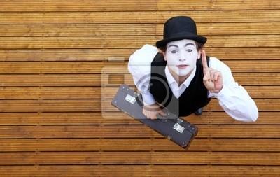 Fototapeta Portret aktora odgrywa pantomimę