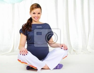 Fototapeta Portret młoda dziewczyna ciąży