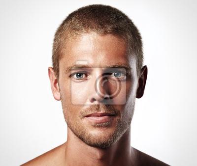 Fototapeta Portret przystojny młody człowiek