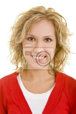 Portret uśmiechnięta kobieta blond