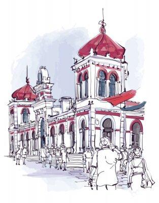 Portugalia, miasto Loule w Algarve, rynek
