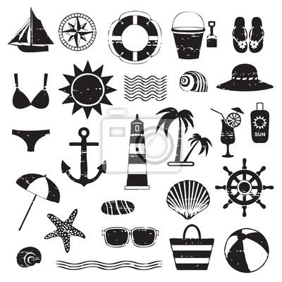 Porysowane symbole przedstawione na morze