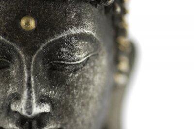Fototapeta Posąg Buddy na białym tle